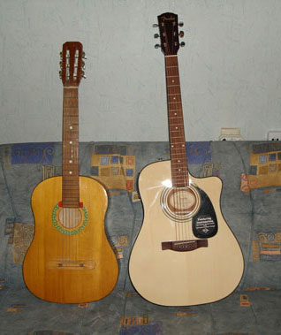 Both: Classic and Fender guitars